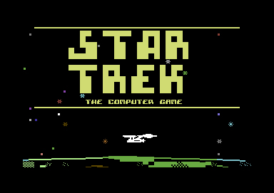Computer Game on Title  Star Trek The Computer Game